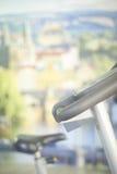 Gym bike exercise cycle machine Stock Photo
