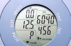Gym bike meter Stock Image