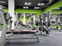 Gym with a black ceiling Royalty Free Stock Image