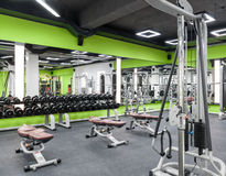 Gym with a black ceiling Stock Images