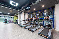 Gym with a black ceiling Stock Image
