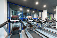Gym with a black ceiling Royalty Free Stock Photos