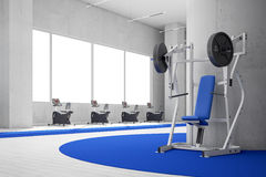 Gym with blue carpet Stock Image