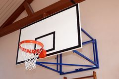 Gym building with basketball hoop Stock Images