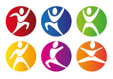 Gym buttons. Over white background vector illustration Stock Images