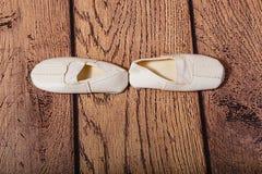 Gym buty dla dzieci Baletnicza pozycja Zdjęcia Royalty Free
