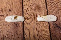 Gym buty dla dzieci Baletnicza pozycja Zdjęcia Stock
