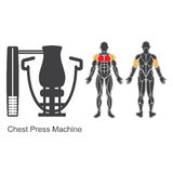 Gym chest press machine Royalty Free Stock Photos
