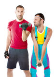 Gym club difference result Stock Image