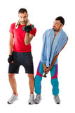 Gym club difference result Royalty Free Stock Images