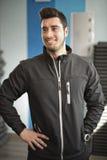 Gym coach posing Stock Photo