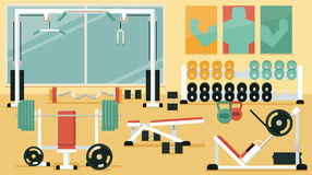 Gym 03 coloridos Imagens de Stock