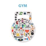 Gym Concept Flat Stock Photos