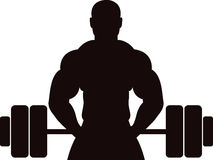 Gym concept man. Illustration art of a gym concept man with isolated background royalty free illustration