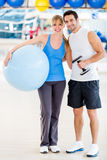 Gym couple Stock Image
