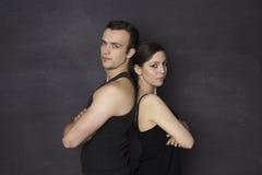 Gym couple Stock Photo