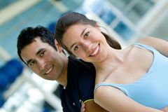 Gym couple portrait Stock Image