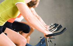Gym Cycling Stock Photos