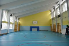 Gym da escola interno Imagens de Stock