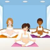 Gym da ioga das mulheres gravidas ilustração stock