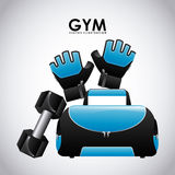 Gym design Stock Images