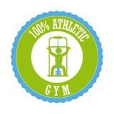 Gym. Design over white background illustration vector illustration
