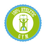 Gym. Design over white background vector illustration stock illustration