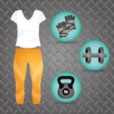 Gym digital design. Royalty Free Stock Images