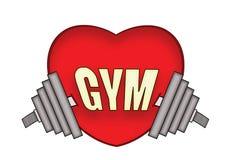 Gym do amor Foto de Stock Royalty Free