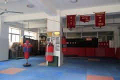 Gym do encaixotamento da escola secundária do songbai Imagem de Stock