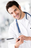Gym doctor Royalty Free Stock Image