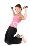 Gym and dumbbells Royalty Free Stock Images