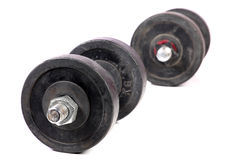 Gym dumbbells Royalty Free Stock Images