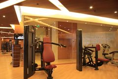 Gym equipment. Hotel room with gym equipment Royalty Free Stock Photos
