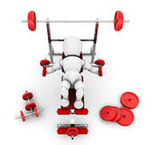 Gym equipment. 3D render of someone using gym equipment Stock Images