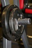 Gym equipment. Body building fitness gym equipment Stock Photo