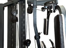 Gym equipment-elements of power training apparatus Royalty Free Stock Photos