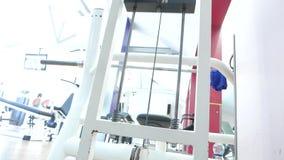 Gym equipment stock footage