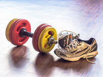 Gym equipment stock photography