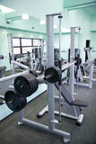 Gym equipment room. Room with gym equipment in the sport club Royalty Free Stock Image