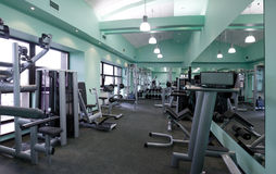 Gym equipment room. Room with gym equipment in the sport club Royalty Free Stock Images