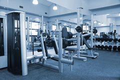 Gym equipment room stock photos