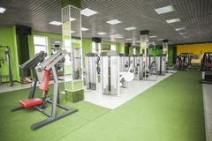 Gym equipment room Royalty Free Stock Photos