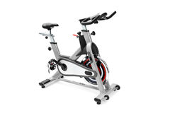Gym equipment, spinning machine. For cardio workouts Royalty Free Stock Image