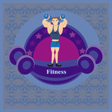 Gym etykietka Obrazy Royalty Free