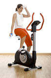 Gym exercise Royalty Free Stock Photos