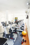 Gym exercise fitness room in hotel Royalty Free Stock Images