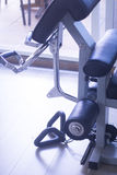 Gym exercise weights machine Stock Photo