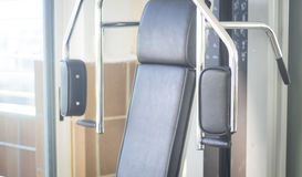 Gym exercise weights machine Stock Images