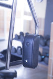 Gym exercise weights machine Royalty Free Stock Photo